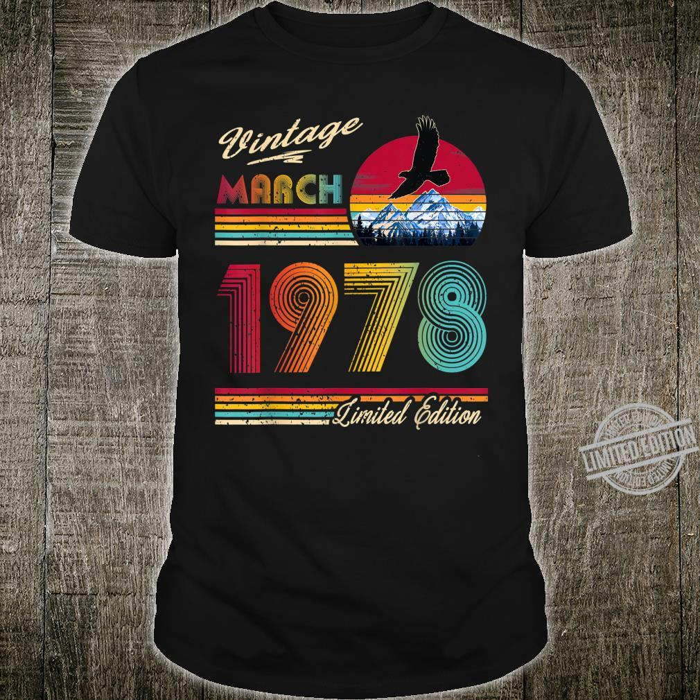 42 Years Old 42th Birthday March 1978 Shirt