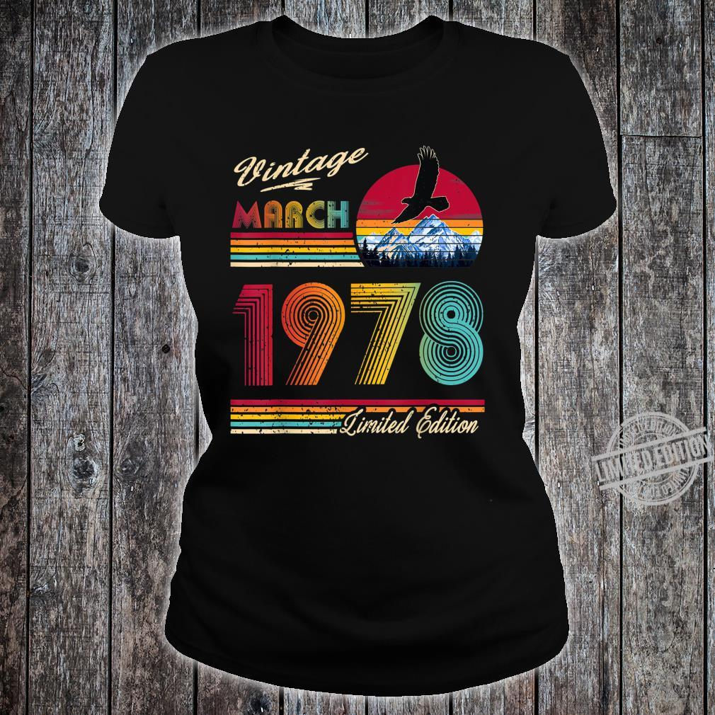 42 Years Old 42th Birthday March 1978 Shirt ladies tee