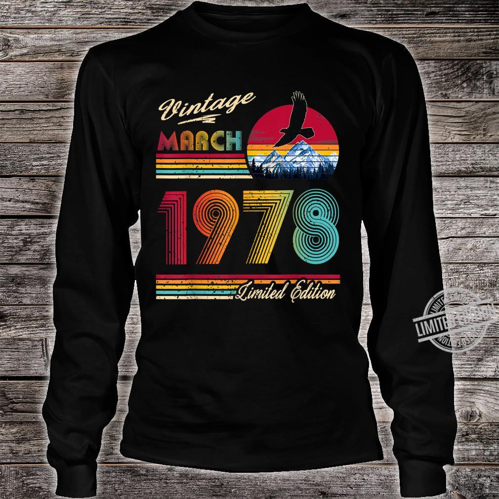 42 Years Old 42th Birthday March 1978 Shirt long sleeved