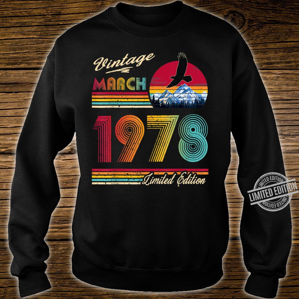42 Years Old 42th Birthday March 1978 Shirt sweater