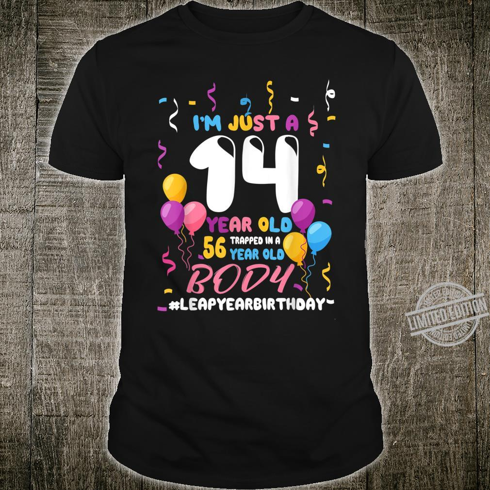 56 Years Old Birthday Leap Year February 29 Leap Day Bday Shirt