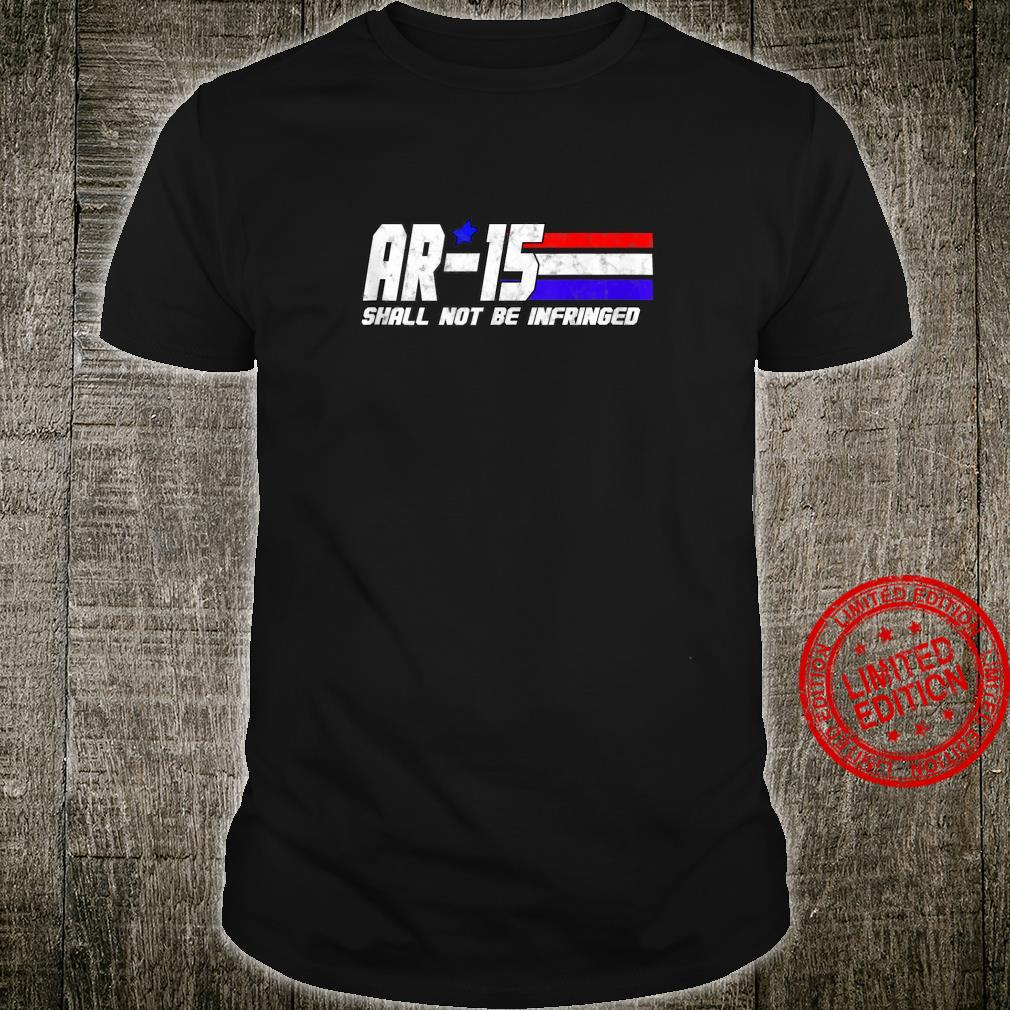 AR 15 2nd Amendment Supporter 80's Style Patriotic Shirt
