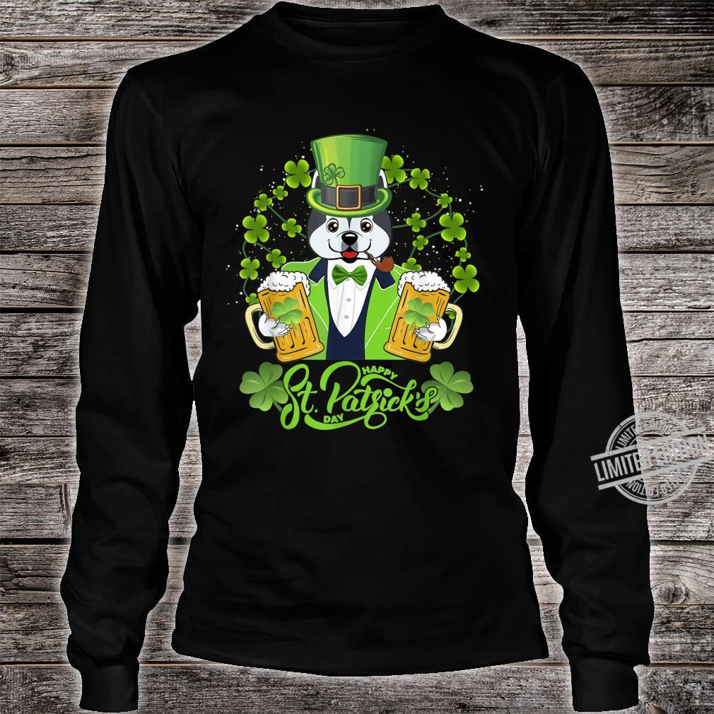 Alaskan Dog Shamrock St Patrick's Day Shirt long sleeved