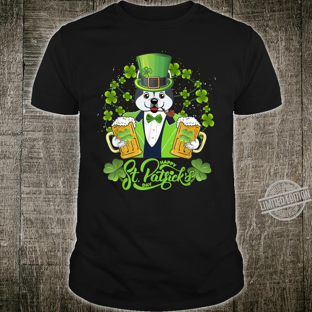 Alaskan Dog Shamrock St Patrick's Day Shirt