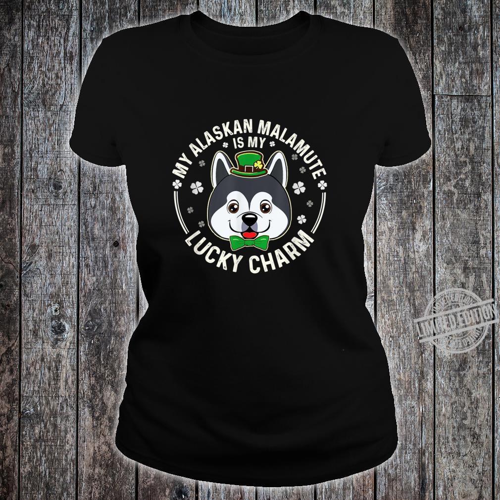 Alaskan Malamute Is My LuckyCharmClover Irish Patricks Shirt ladies tee