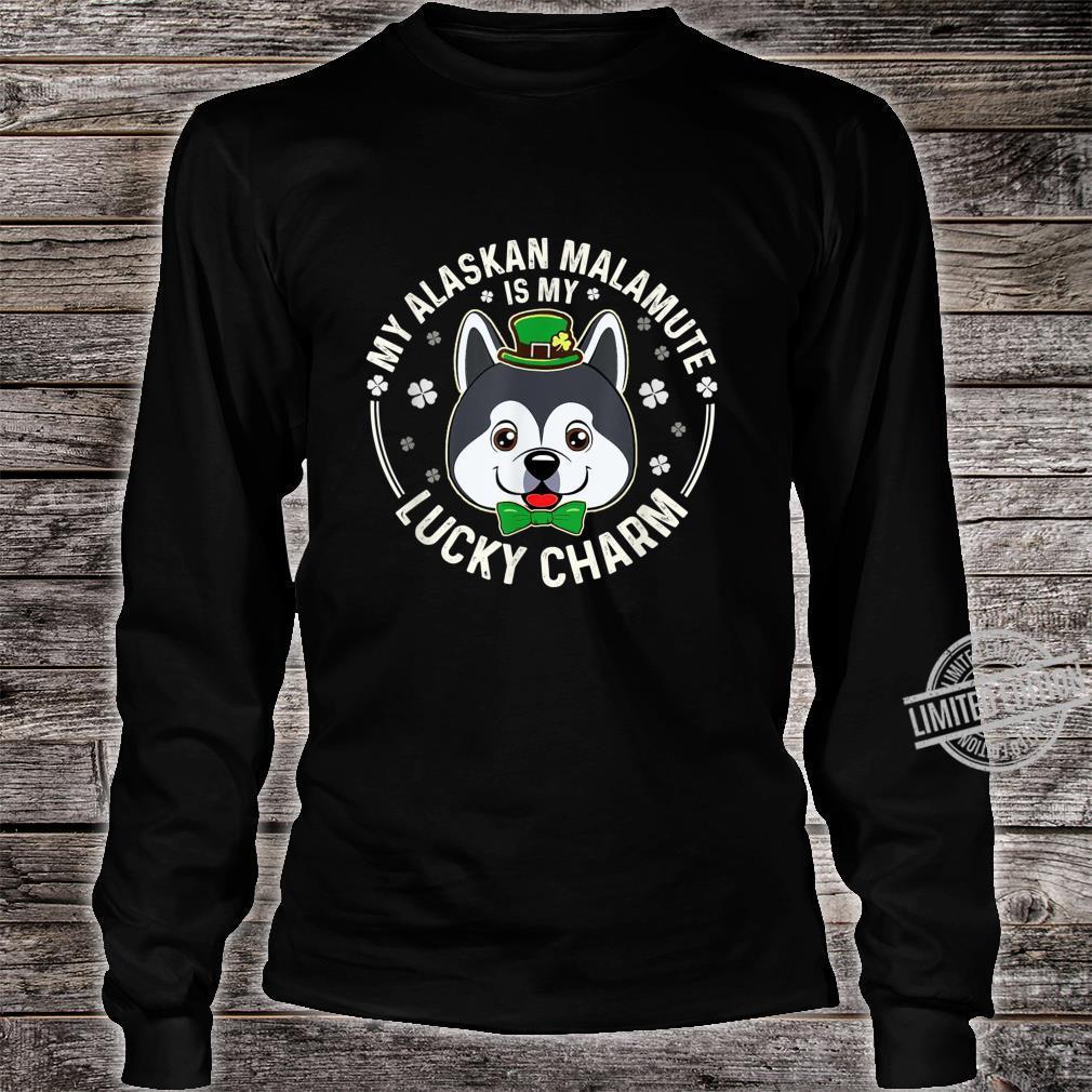 Alaskan Malamute Is My LuckyCharmClover Irish Patricks Shirt long sleeved