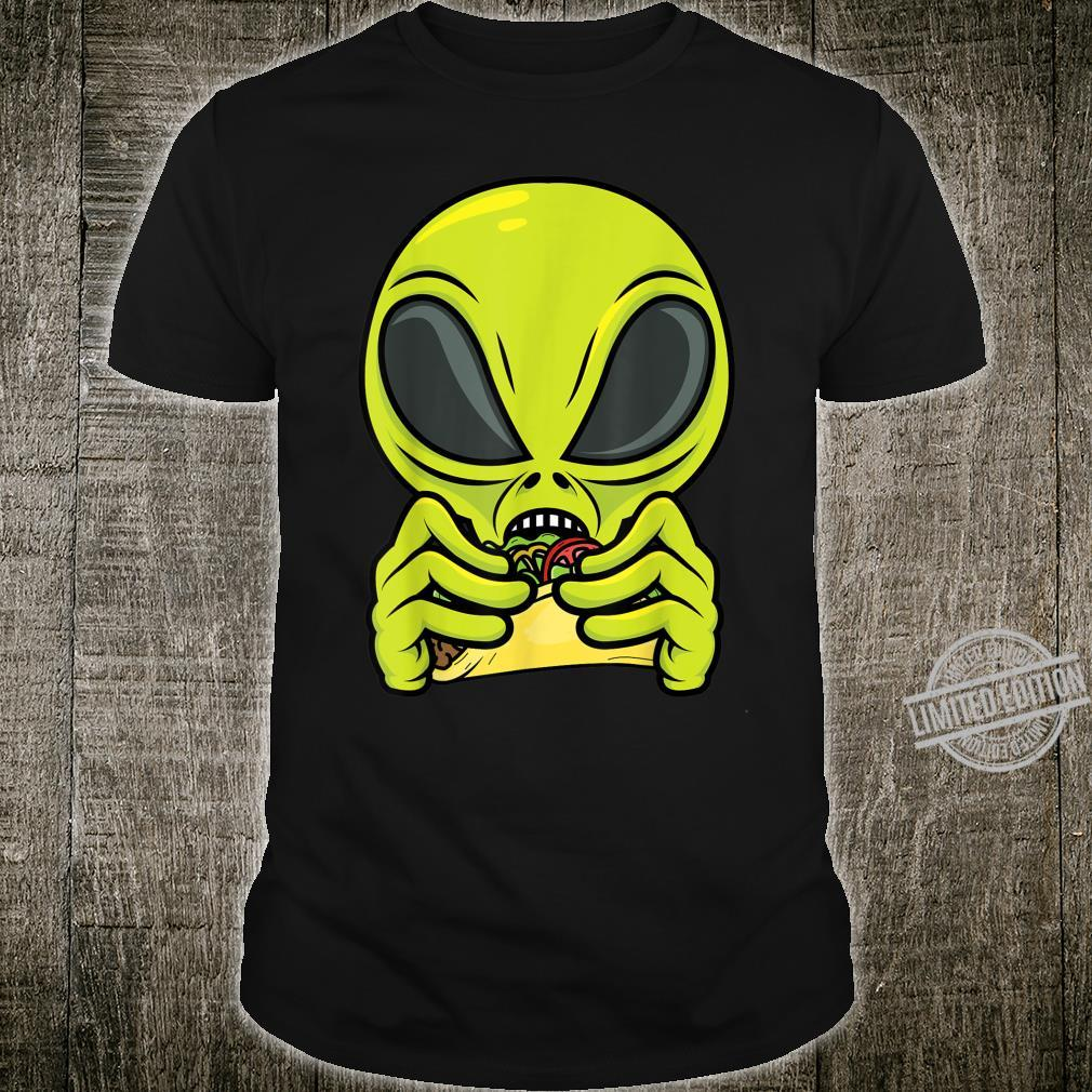 Alien Eating Taco Cool Outer Space UFO Mexico Shirt