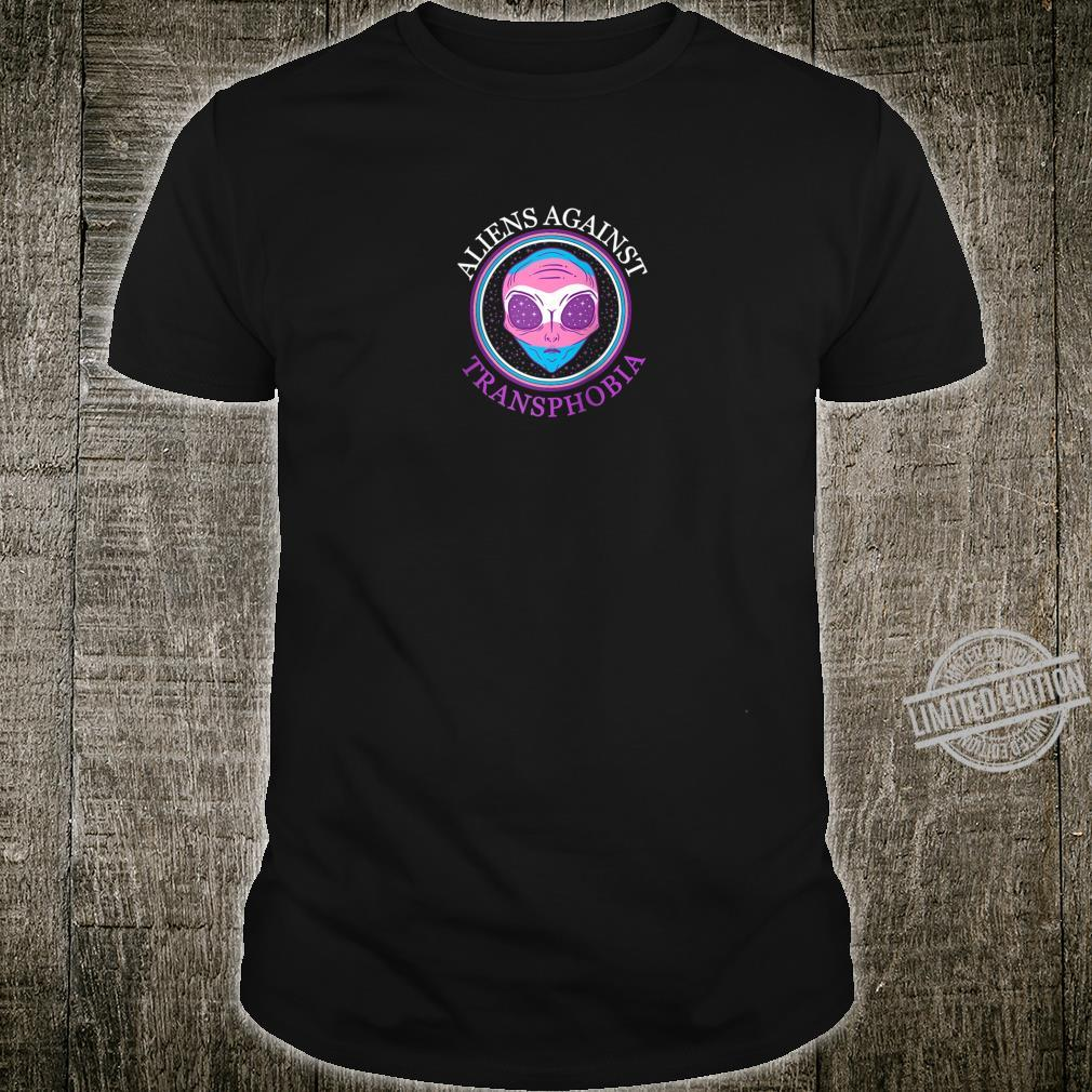 Aliens Against Transphobia Transgender Pride Gay LGBTQ LGBT Shirt