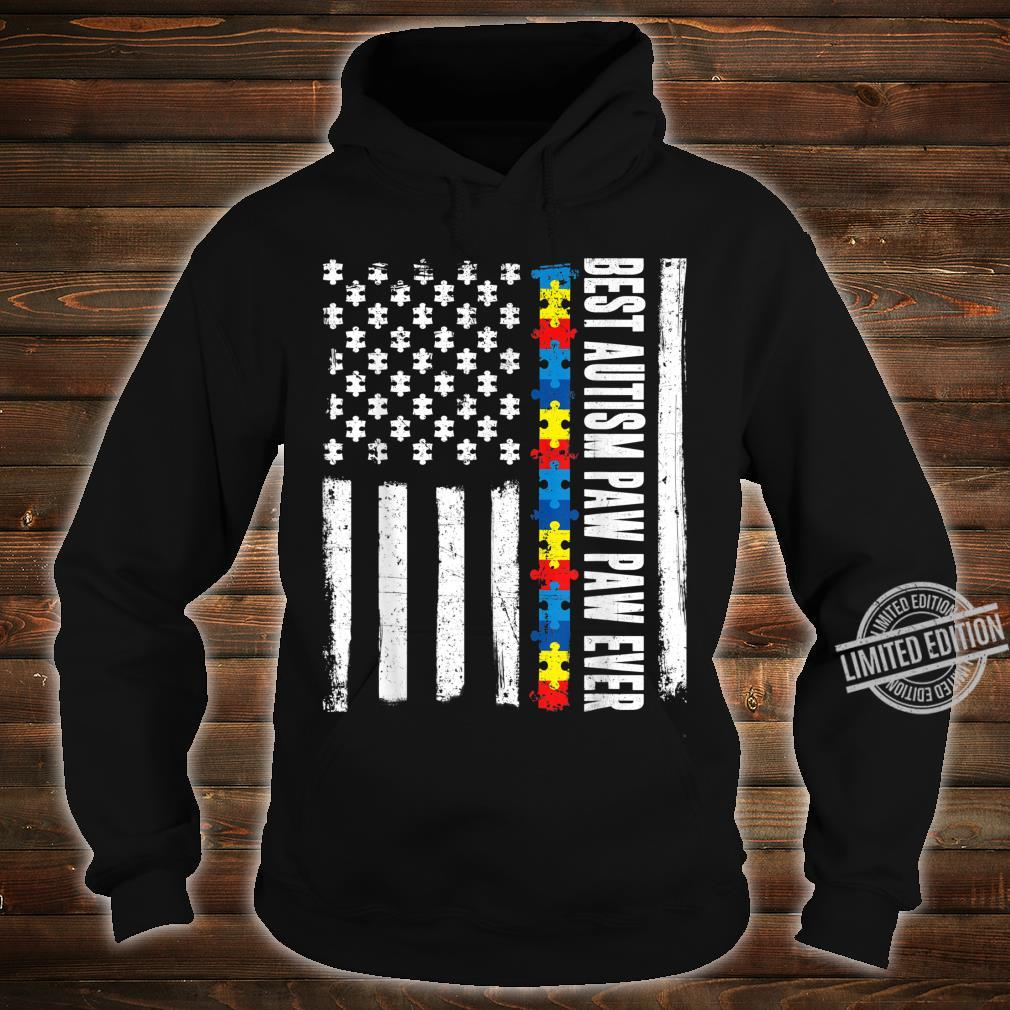 American Flag Best Autism Paw Paw Ever Autism Awareness Shirt hoodie
