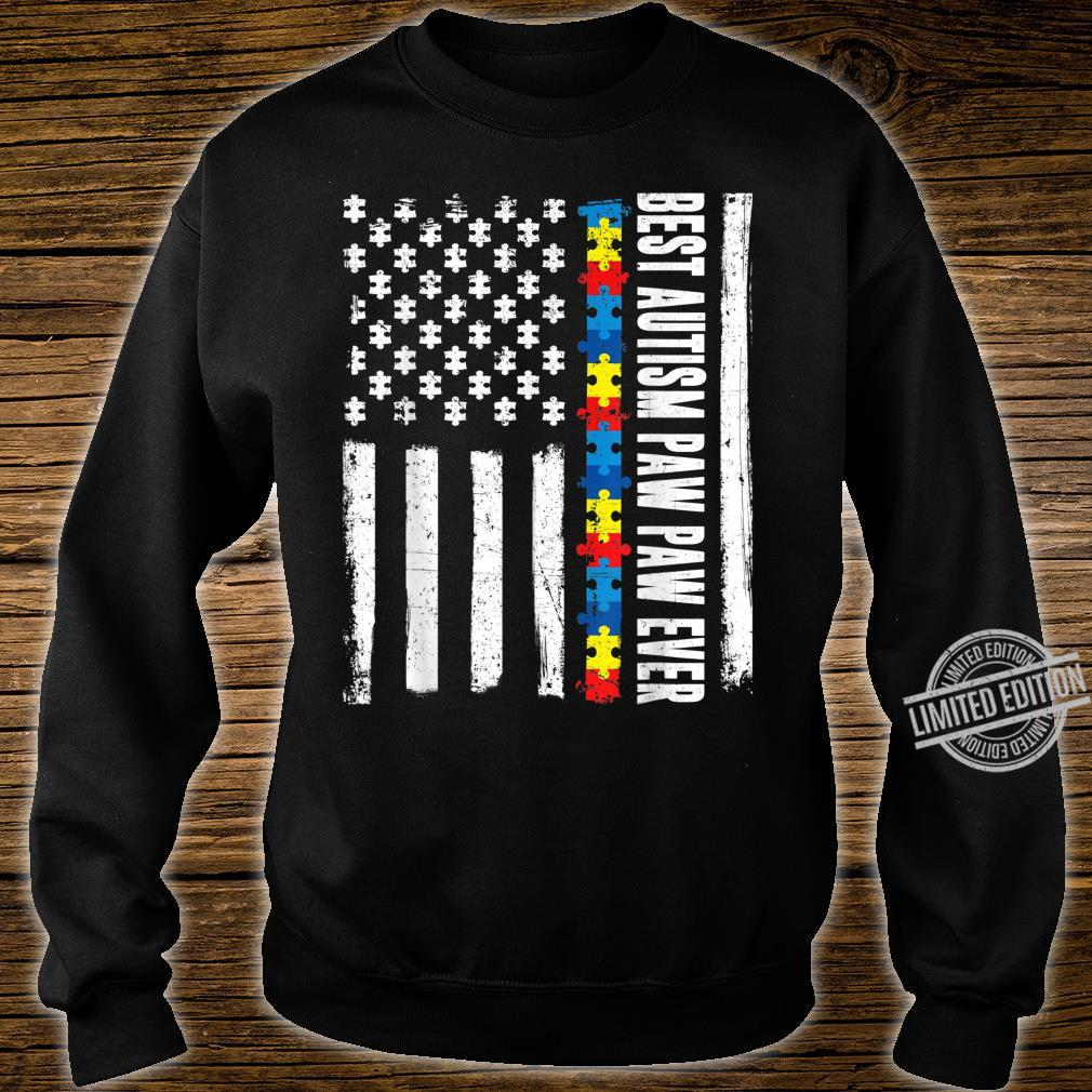 American Flag Best Autism Paw Paw Ever Autism Awareness Shirt sweater