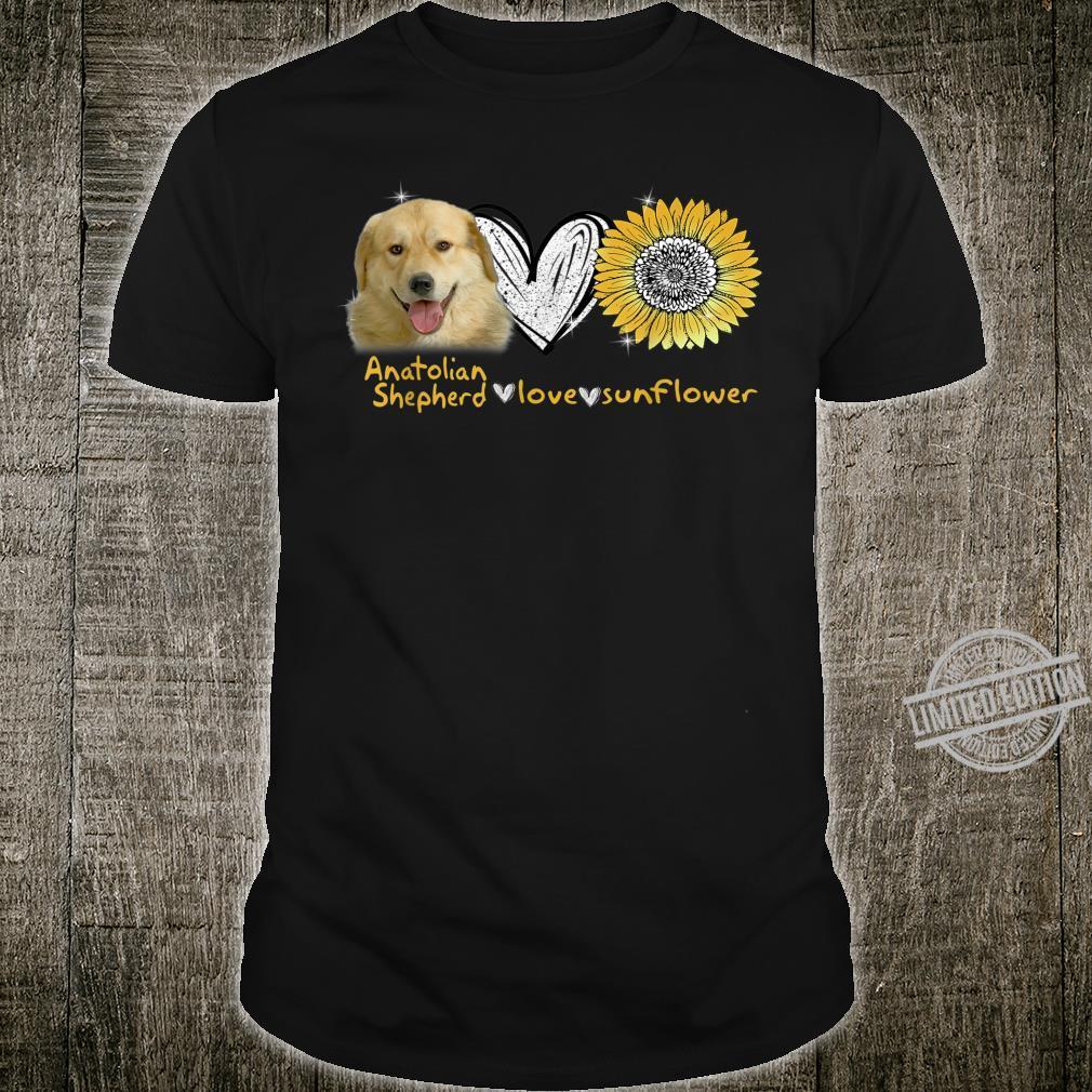 Anatolian Shepherd Love Sunflower Hippie Anatolian Shepherd Shirt