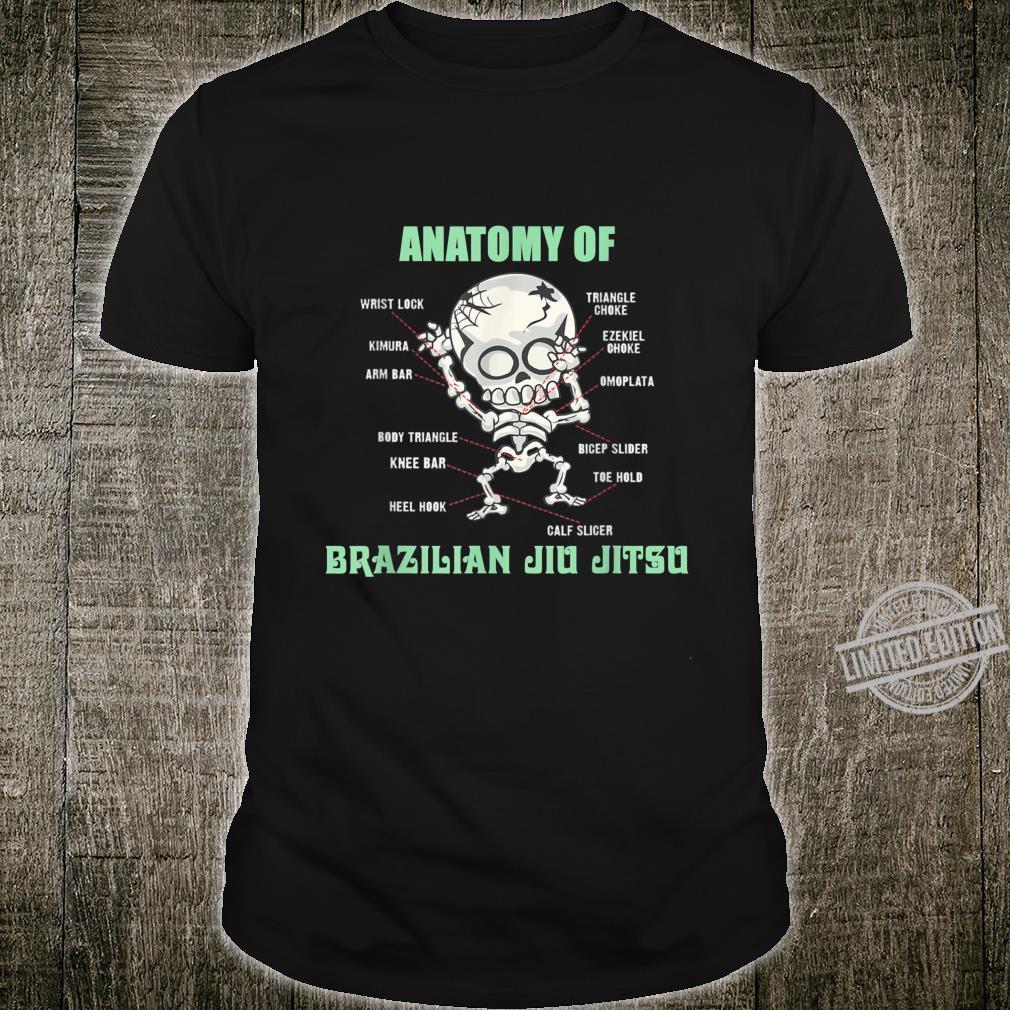 Anatomy Of Brazilian Jiu Jitsu BJJ Martial Art Shirt