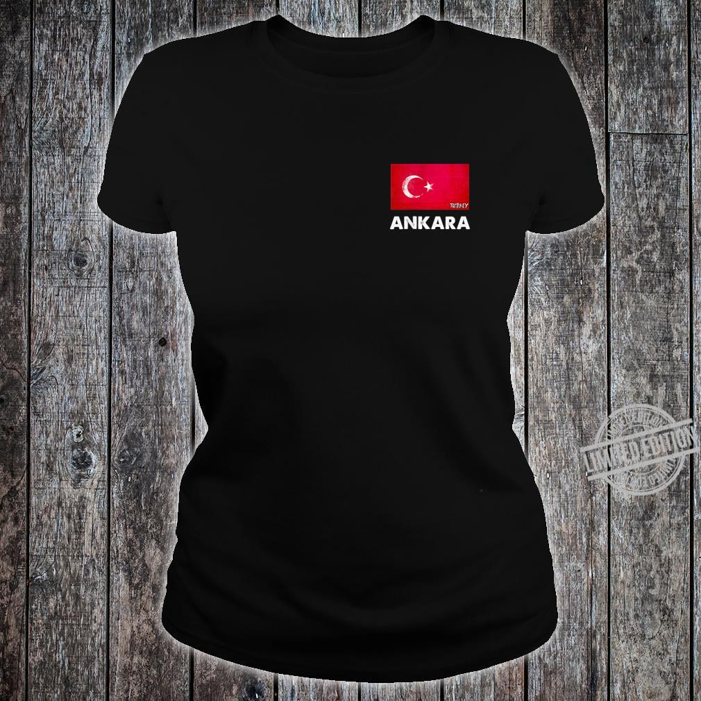 Ankara Turkey Flag Shirt Ankara Shirt ladies tee
