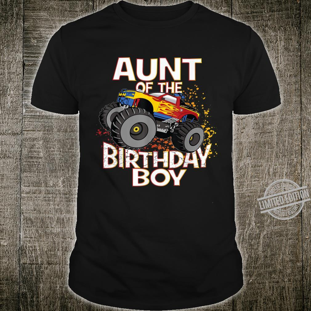 Aunt Of The Birthday Boy Monster Truck Boys Party Shirt