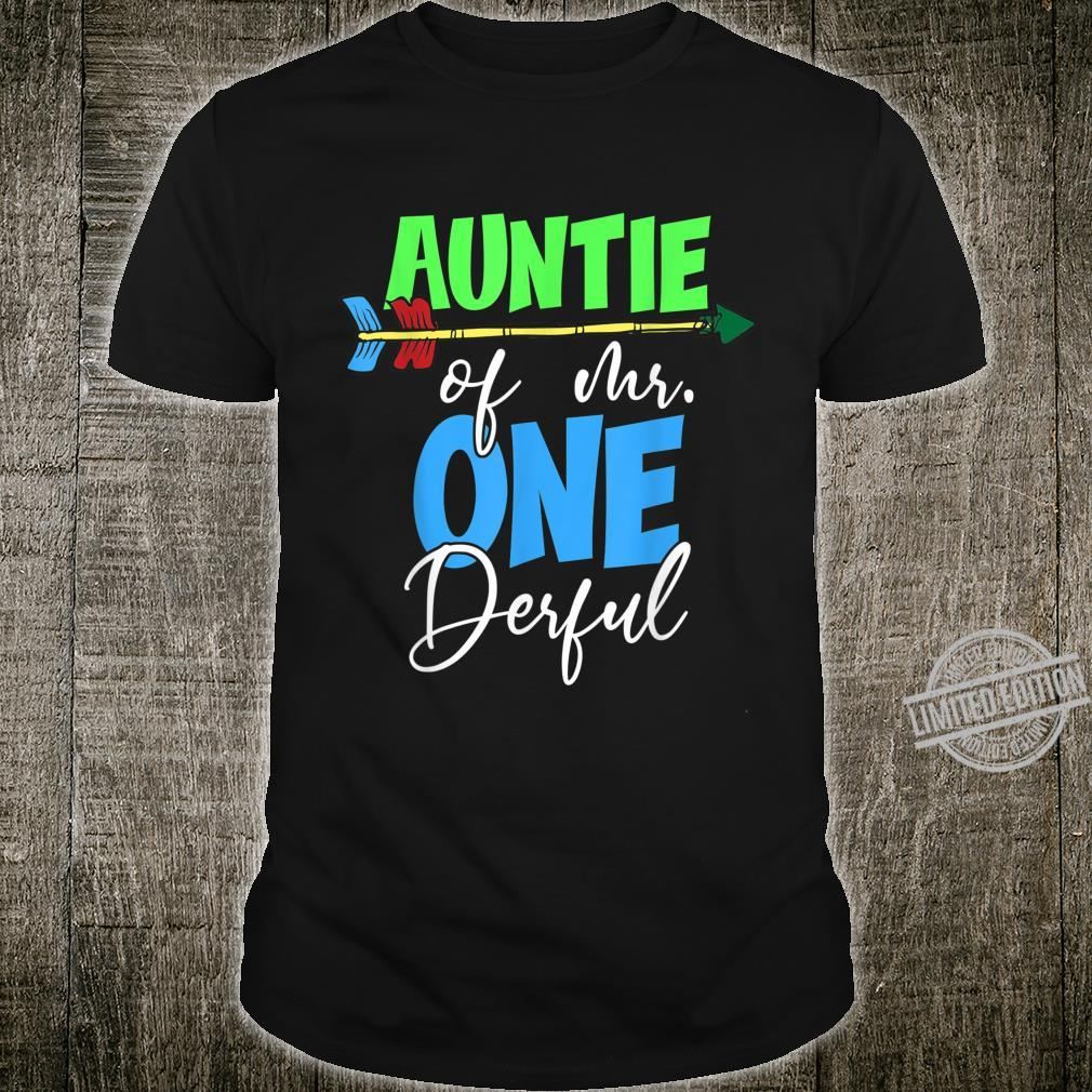 Auntie of Mr. Onederful 1st Birthday Bday Party Family Shirt