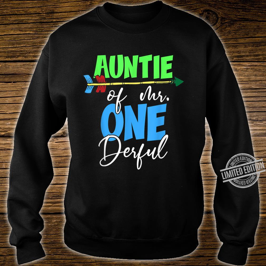 Auntie of Mr. Onederful 1st Birthday Bday Party Family Shirt sweater