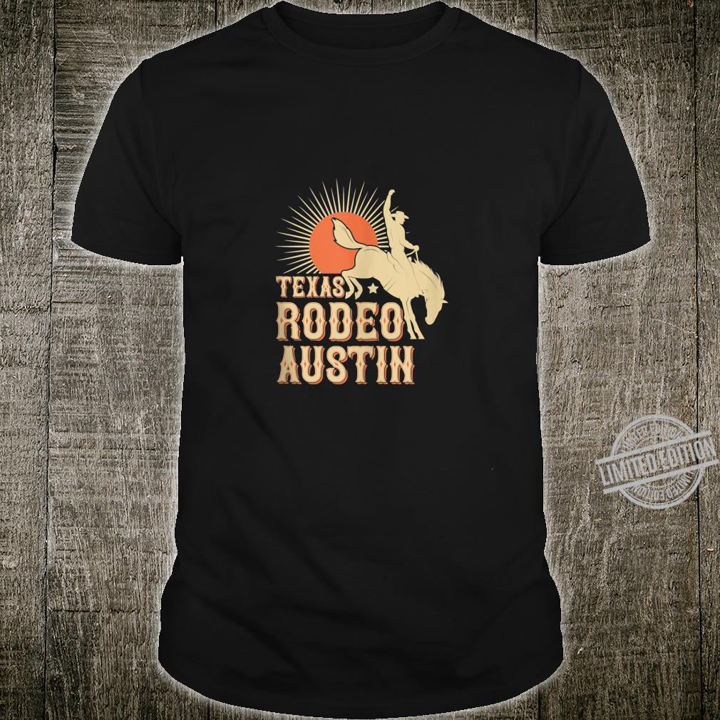Austin Texas Rodeo Vintage Western Retro Cowboy Shirt