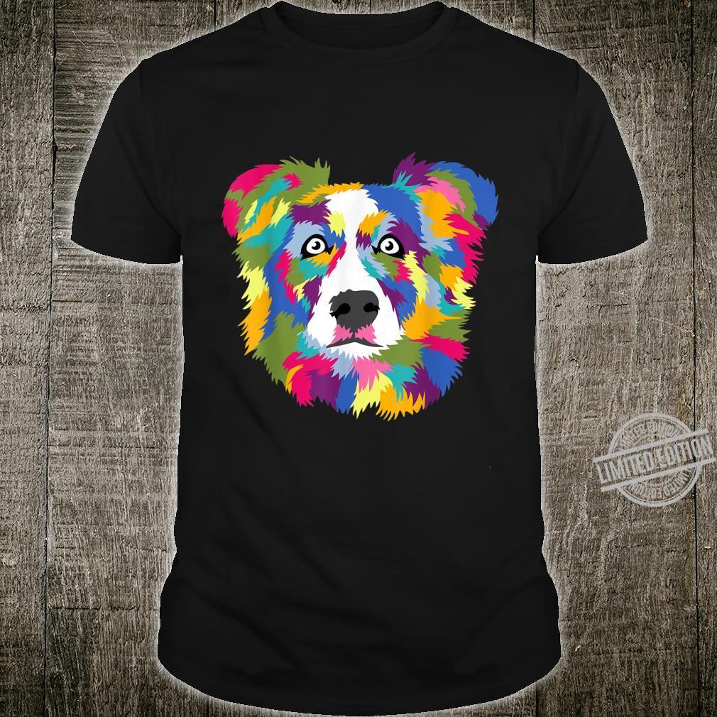 Australian Shepherd Aussie Pop Art Popart Dog Shirt