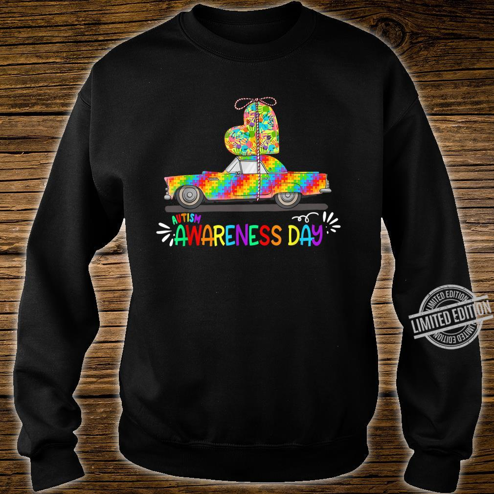 Autism Awareness Day Car Carrying Love Heart Autistic Shirt sweater