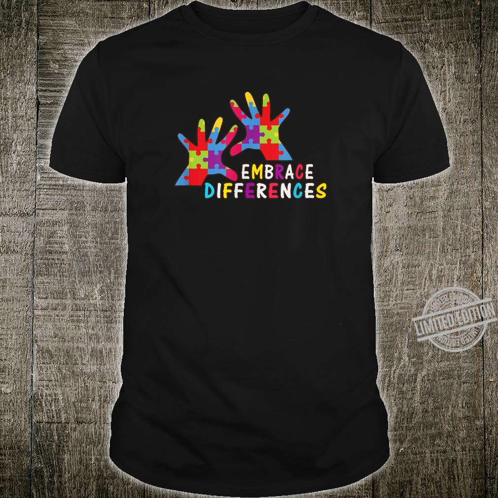 Autism Awareness Kindness Embrace Differences Shirt