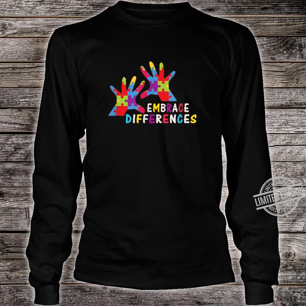 Autism Awareness Kindness Embrace Differences Shirt long sleeved