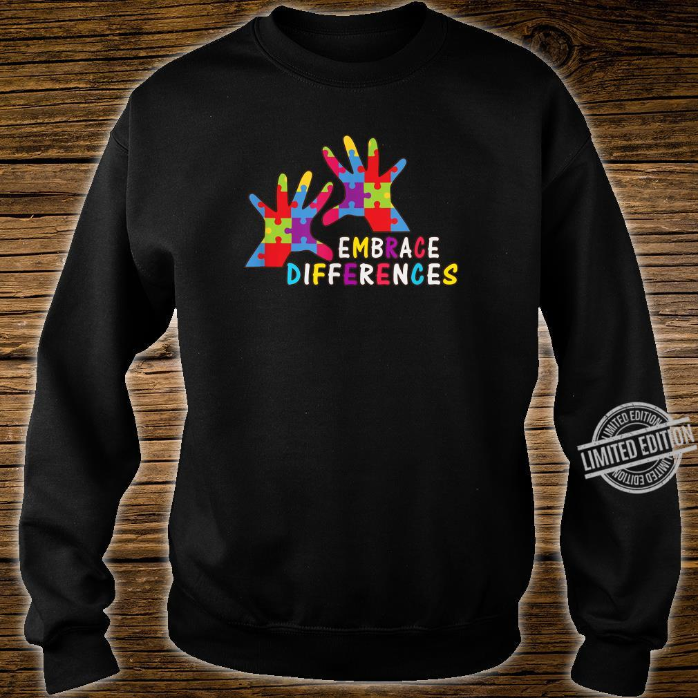Autism Awareness Kindness Embrace Differences Shirt sweater