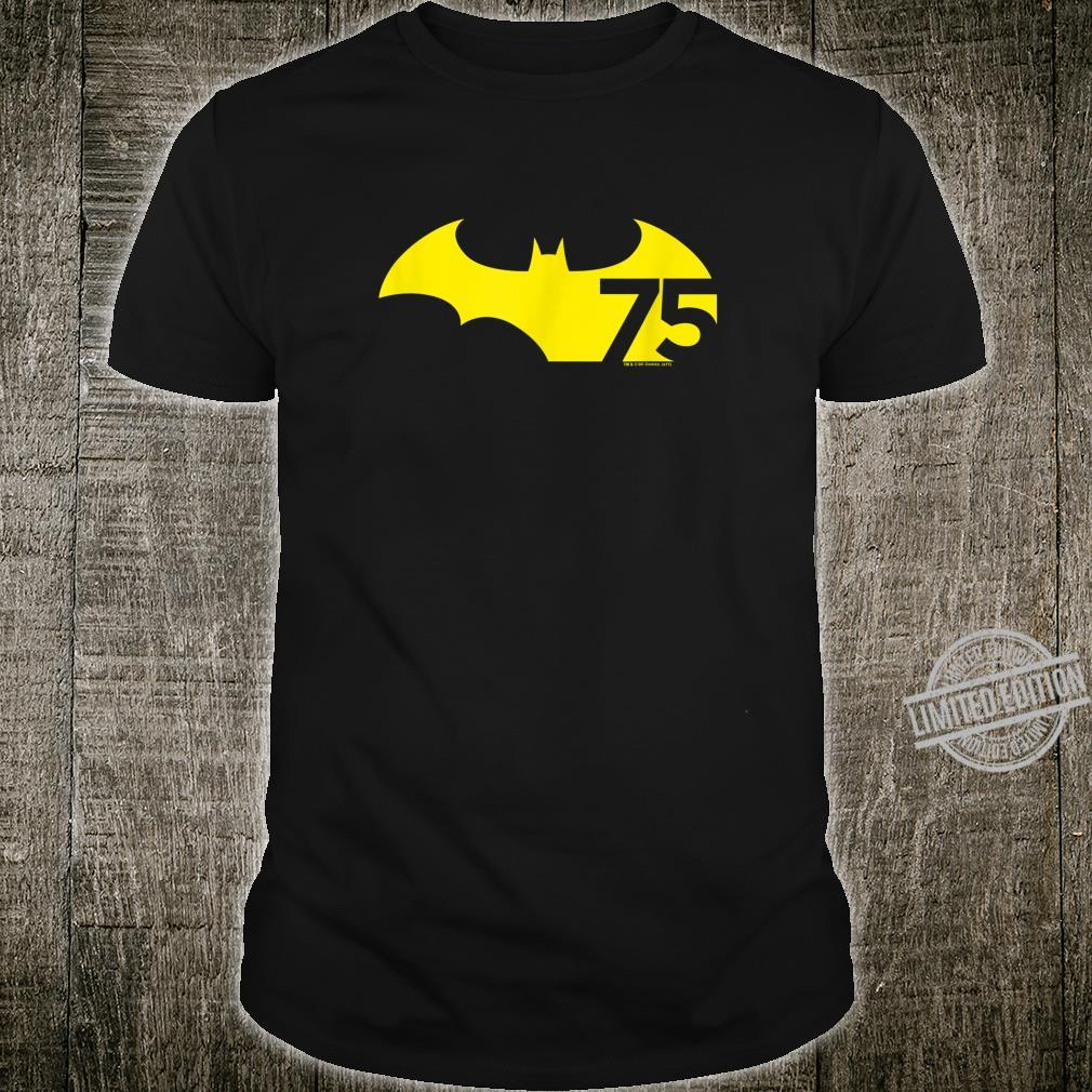 Batman 75 Logo Yellow Shirt