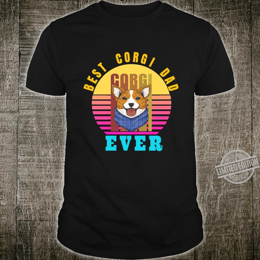 Best Corgi Dad Ever Typographic Dog Shirt