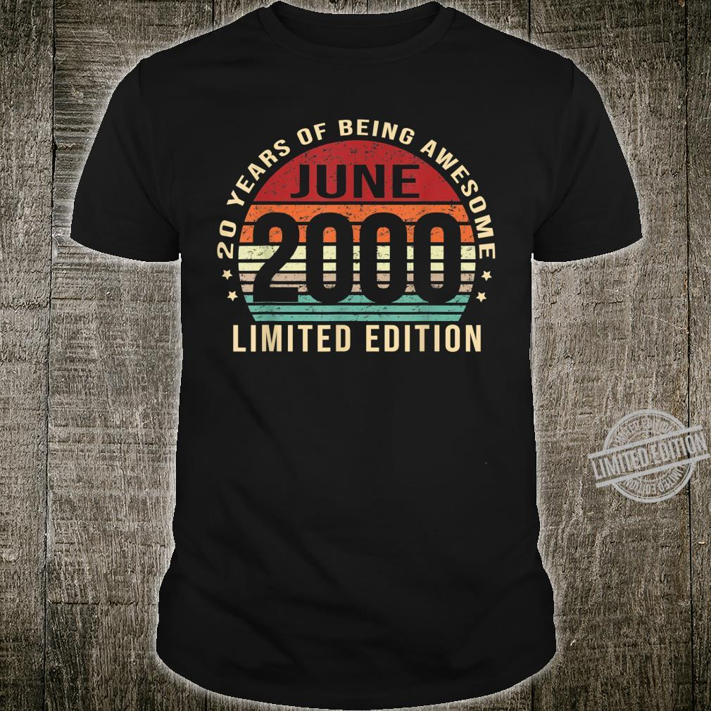 Born in June Limited Edition 20 Years Old 20th Birthday Shirt