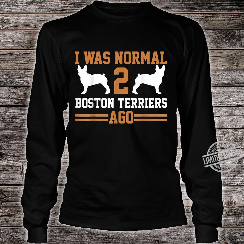 Boston Terrier Shirt long sleeved