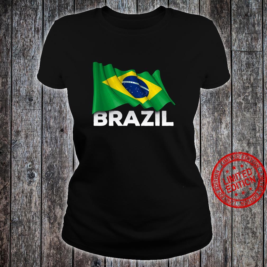 Brasilien mit brasilianischer Flagge Shirt ladies tee