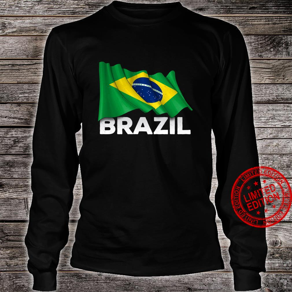 Brasilien mit brasilianischer Flagge Shirt long sleeved