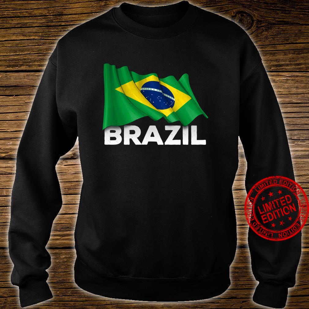 Brasilien mit brasilianischer Flagge Shirt sweater