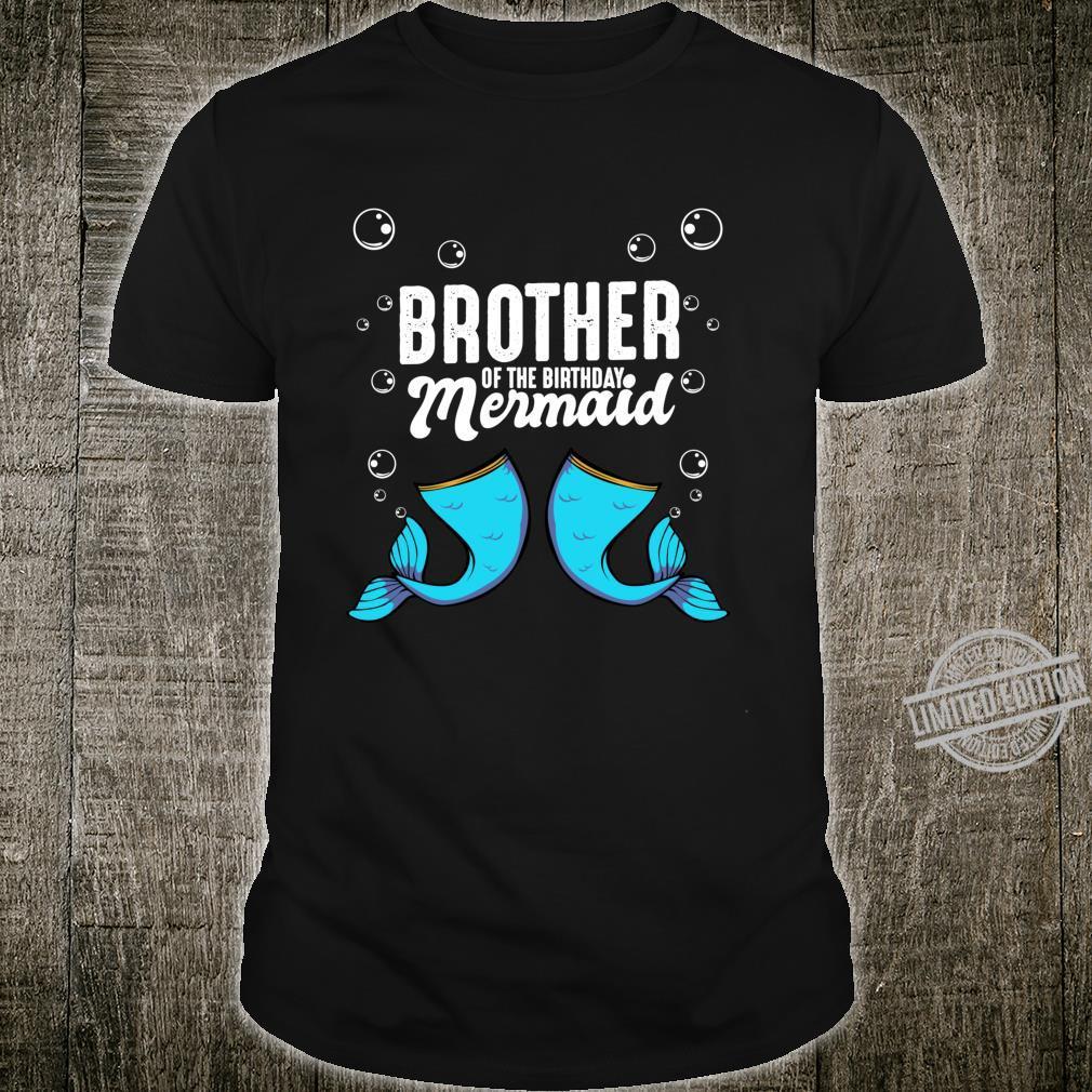 Brother Of The Birthday Mermaid Bruder Geburtstag Familie Langarmshirt Shirt