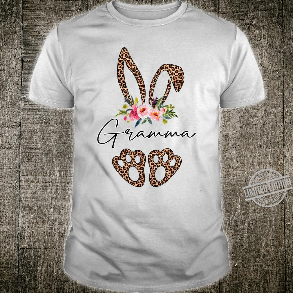 Bunny Easter Leopard Floral Grandma Gramma Mothers Day Shirt