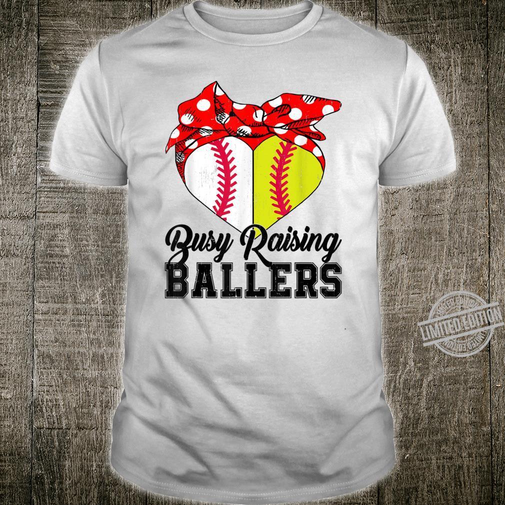 Busy Raising Ballers Softball Baseball baseball mom Shirt