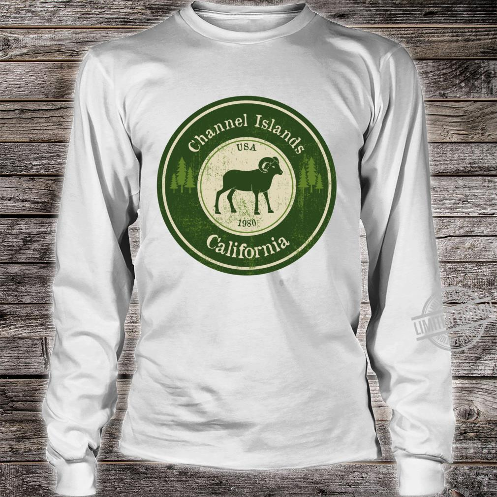 Channel Islands, California National Park Ram Racerback Shirt long sleeved