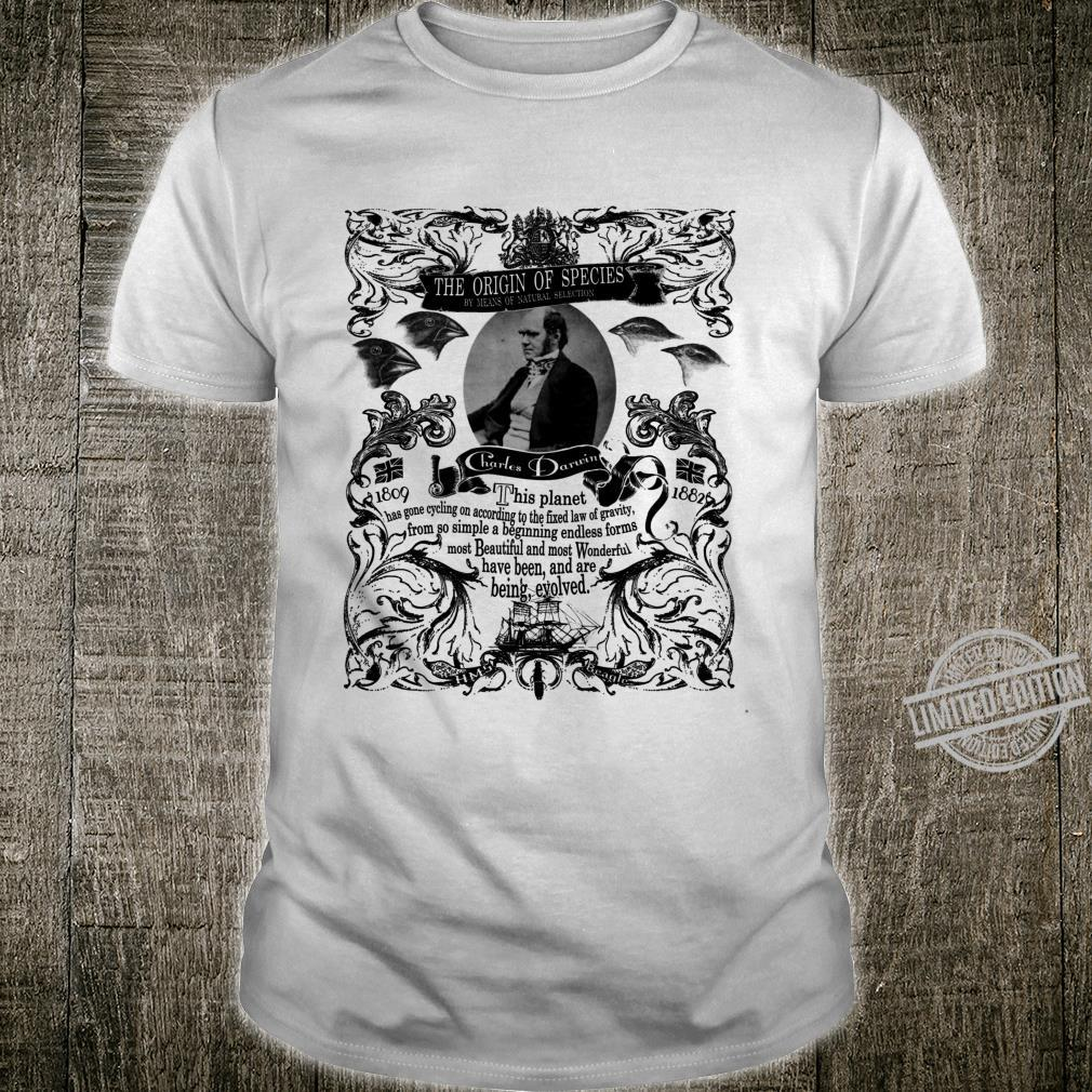 Charles Darwin Origin of Species black Shirt