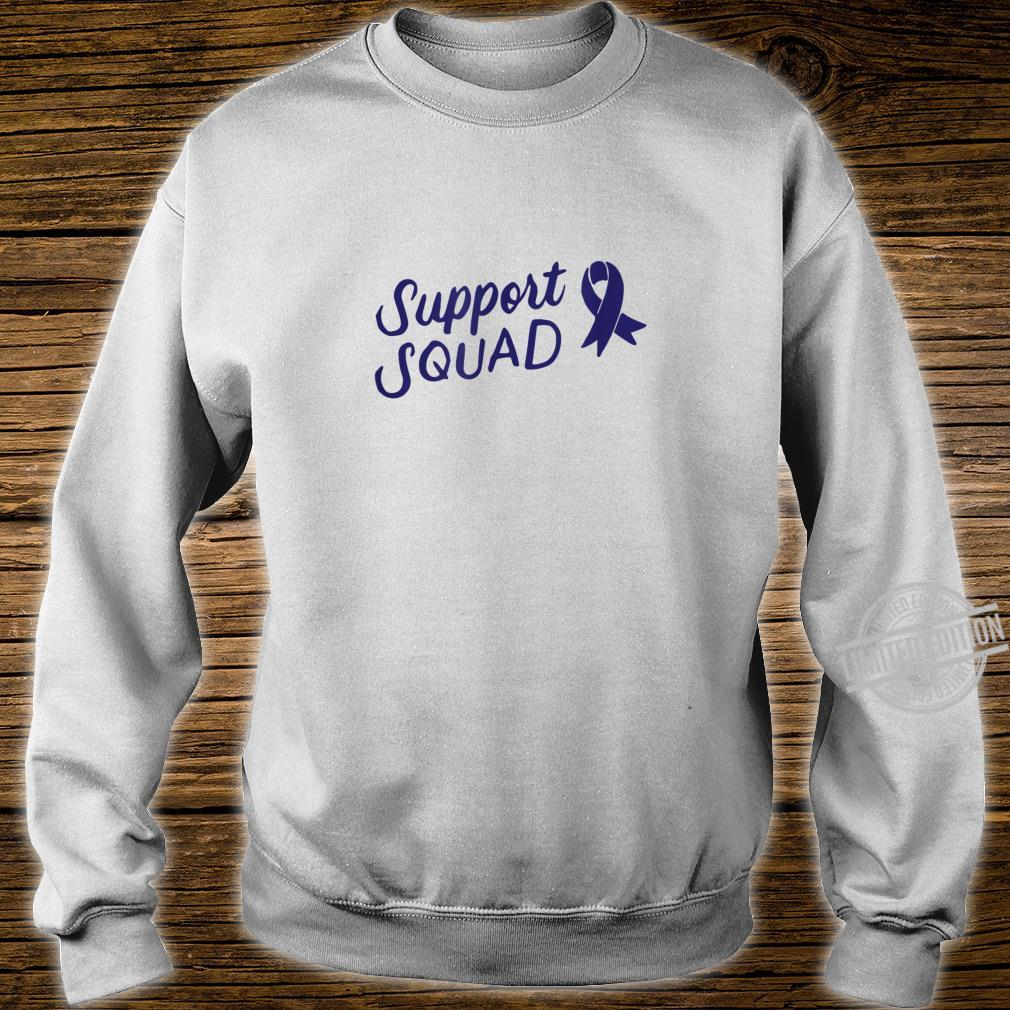 Colon Cancer Support Squad Blue Colorectal Awareness Ribbon Shirt