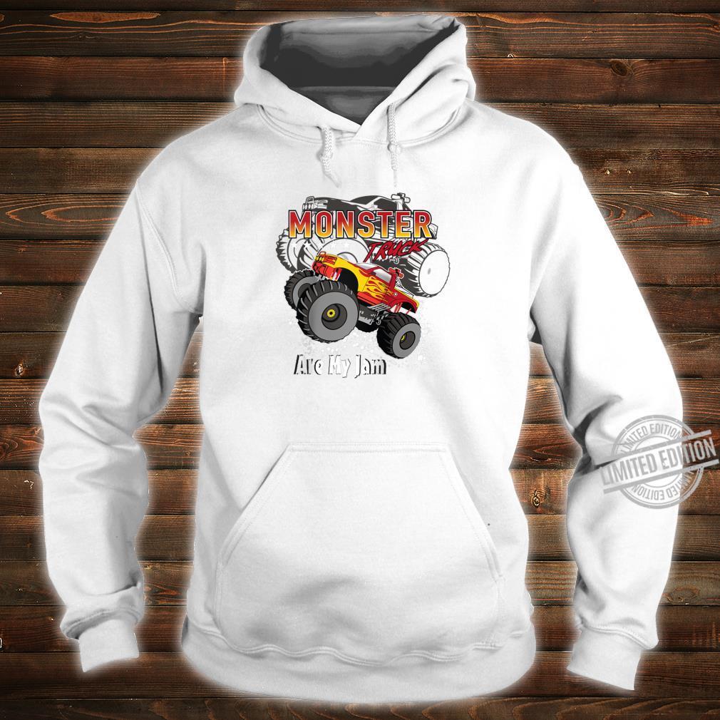 Cool Monster Truck Are My Jam Retro Sunset Engines Shirt hoodie