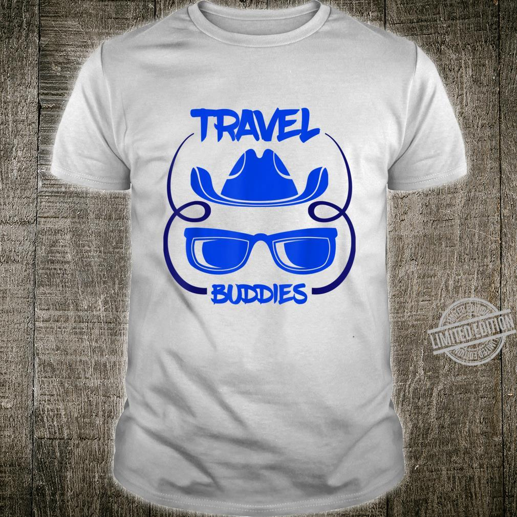 Cool Travel Buddies Sunglasses Hat Travelling Hipsters Shirt