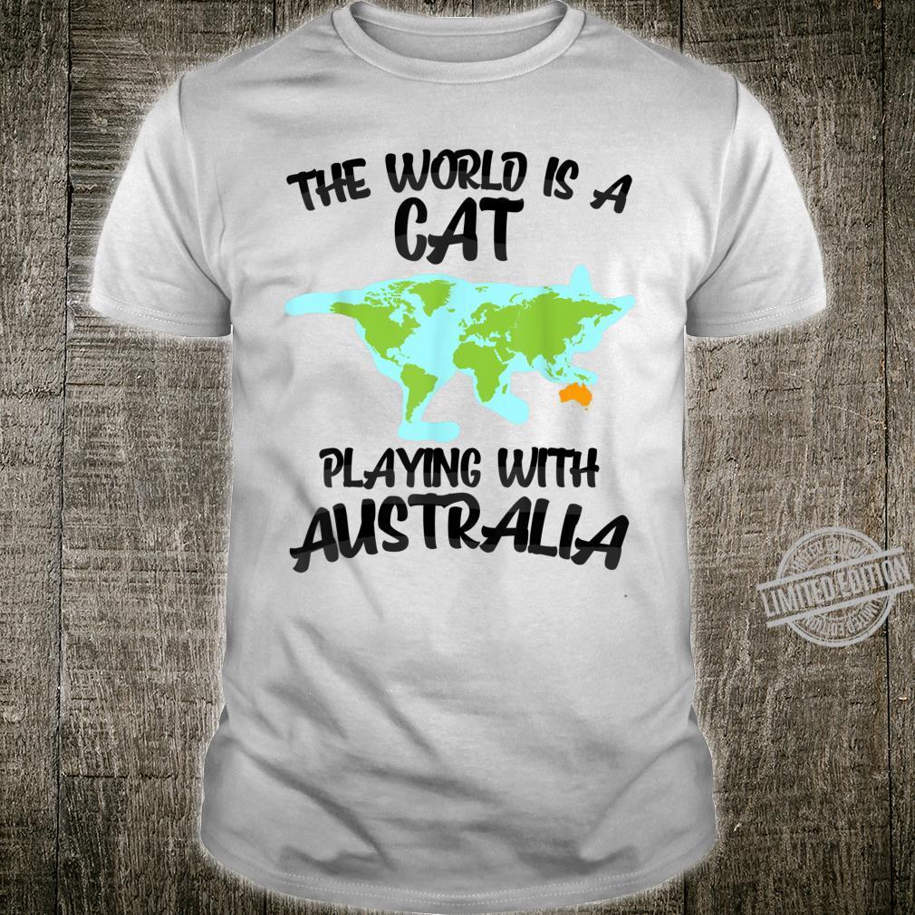 Cool World Cat Playing Australia Kitten Joke Shirt