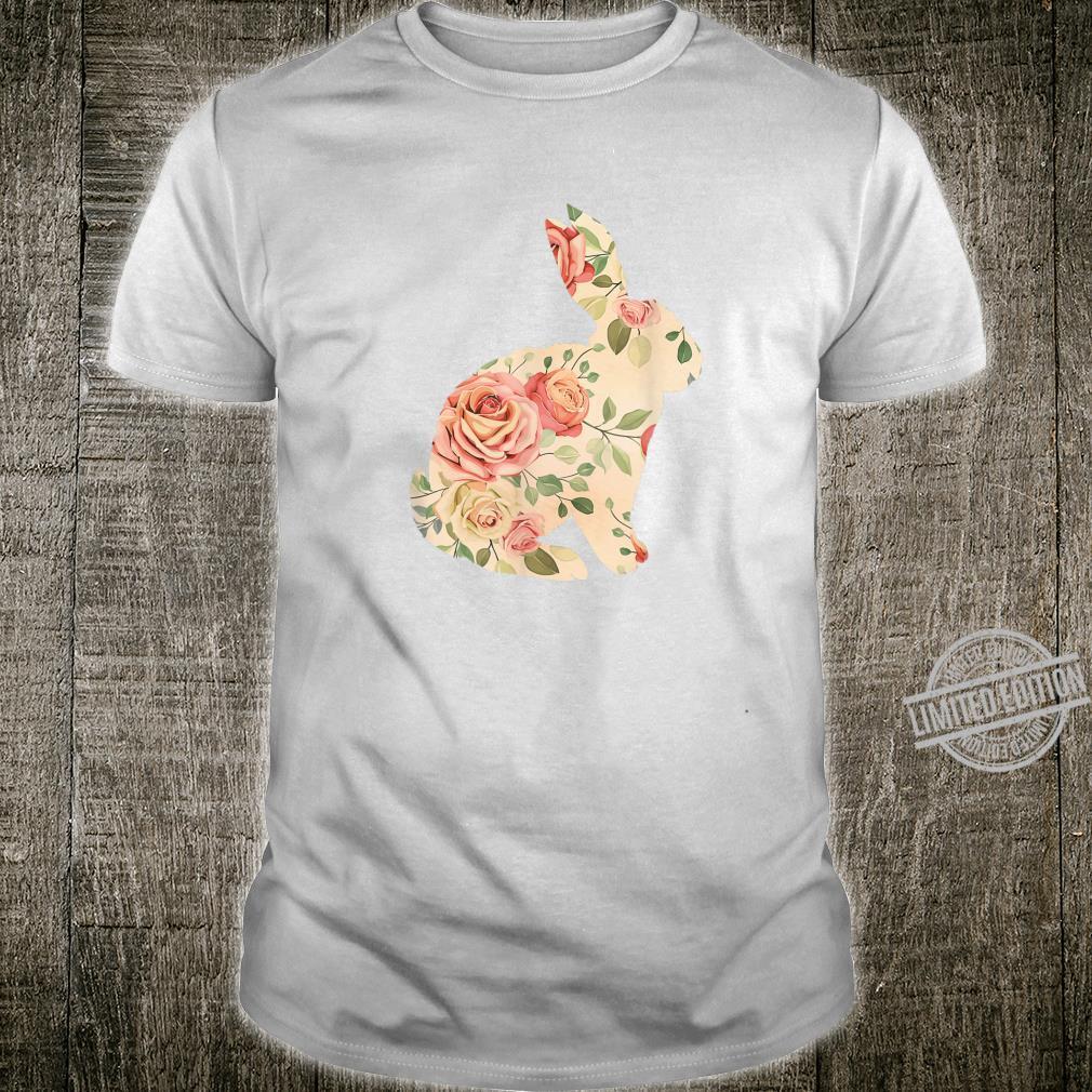 Cute Easter Bunny Vintage Floral Easter Shirt