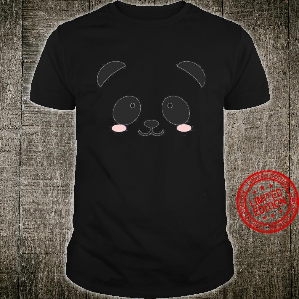 Cute Halloween Panda Bear Face Costume Shirt