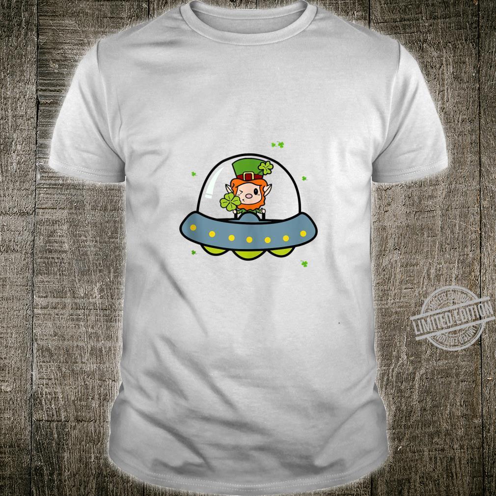 Cute Leprechaun UFO St. Patrick's Day Gif Shirt
