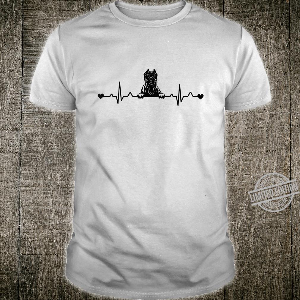 Cute Presa Canario Dog Heartbeat Pulse ECG Shirt