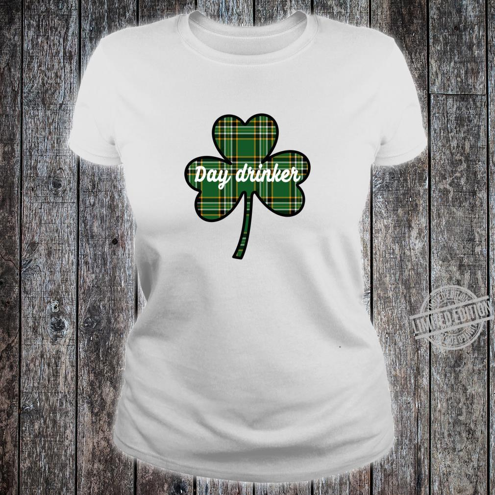 Cute St. Patricks Day Outfit Green Plaid Lucky Shamrock Shirt ladies tee
