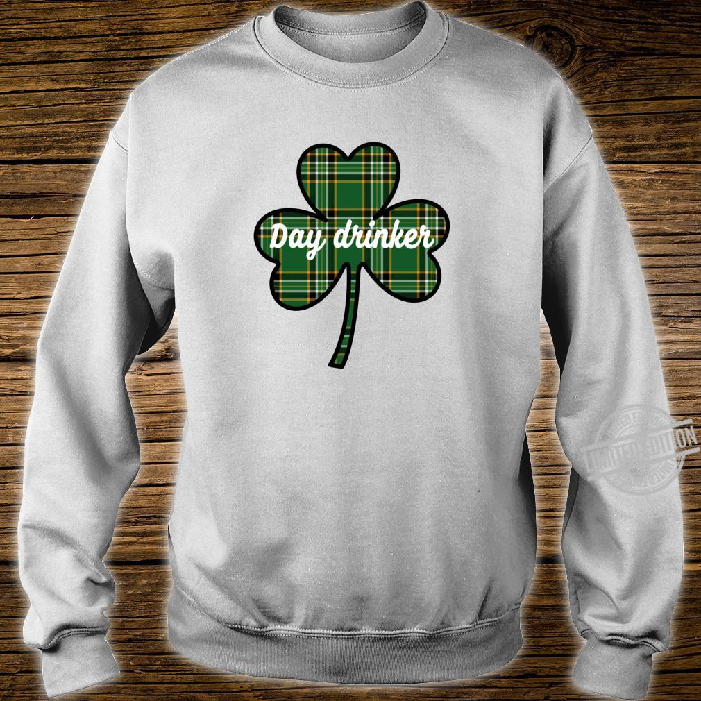 Cute St. Patricks Day Outfit Green Plaid Lucky Shamrock Shirt sweater