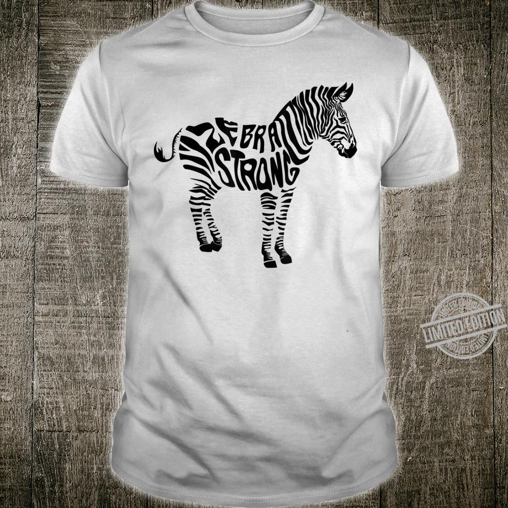 Cute Zebra Strong Ehlers Danlos Syndrome Awareness Shirt