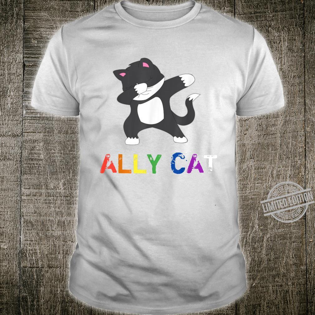 Dabbing Ally Cat Straight Pride LBGTQ Kiitty Gay Shirt